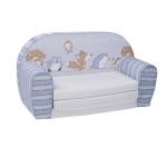 "Kinder Mini Schlafsofa ""Spielzimmer Blau"""