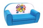 "Kinder-Schlafsofa ""Monster"", blau"