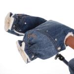 Handschuhe Handwärmer zu Kinderwagen K-One, Blue-Jeans