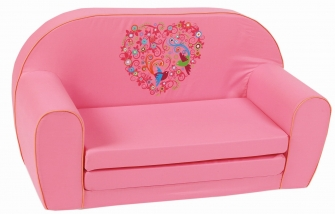 knorr baby gmbh kinder schlafsofa bird flowers rosa. Black Bedroom Furniture Sets. Home Design Ideas