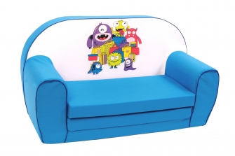"Kinder-Schlafsofa ""Monster"", blau"