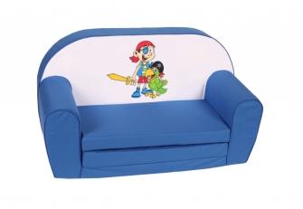 """Kinder-Schlafsofa """"Pirat"""" blau"""