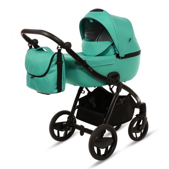 Kombi-Kinderwagen PIQUETTO UNI, smaragd-grün