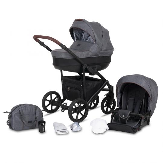 Kombi-Kinderwagen Milos, Grau