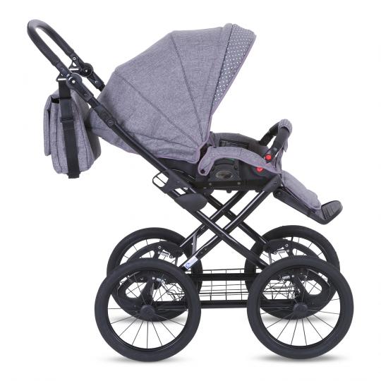 knorr baby gmbh kombi kinderwagen kreta hellgrau mit punkten online kaufen. Black Bedroom Furniture Sets. Home Design Ideas