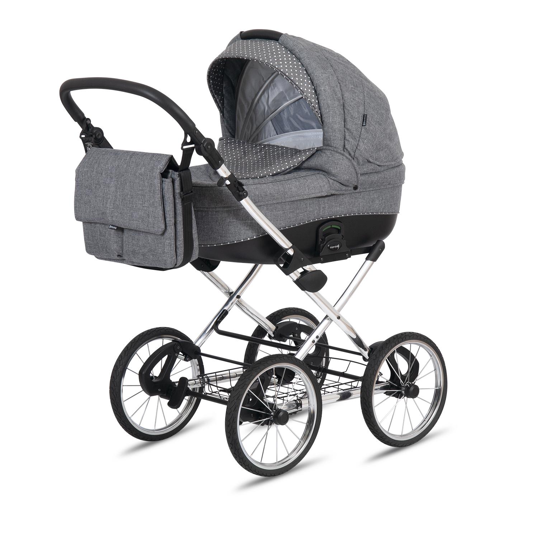 knorr baby gmbh kombi kinderwagen naxos hellgrau mit punkten online kaufen. Black Bedroom Furniture Sets. Home Design Ideas