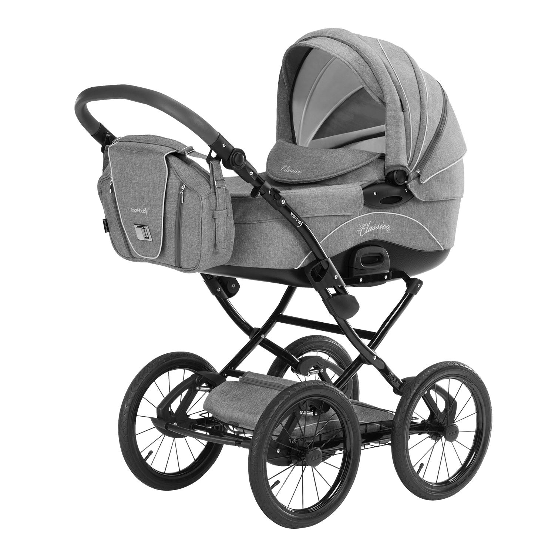 knorr baby gmbh kombi kinderwagen classico hellgrau online kaufen. Black Bedroom Furniture Sets. Home Design Ideas