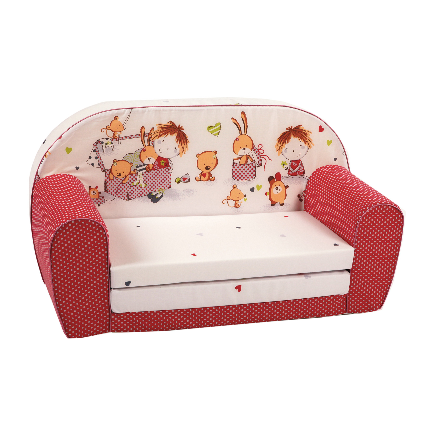 knorr baby gmbh kinder schlafsofa spielzimmer rot online kaufen. Black Bedroom Furniture Sets. Home Design Ideas