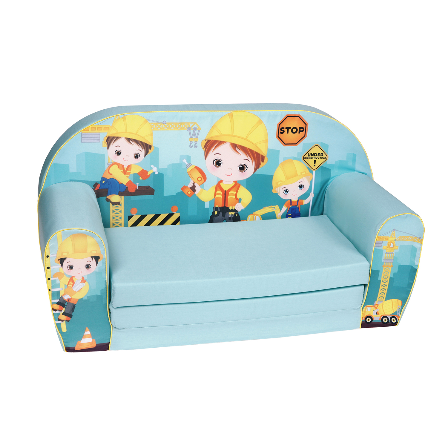 knorr baby gmbh kinder schlafsofa baustelle blau online kaufen. Black Bedroom Furniture Sets. Home Design Ideas