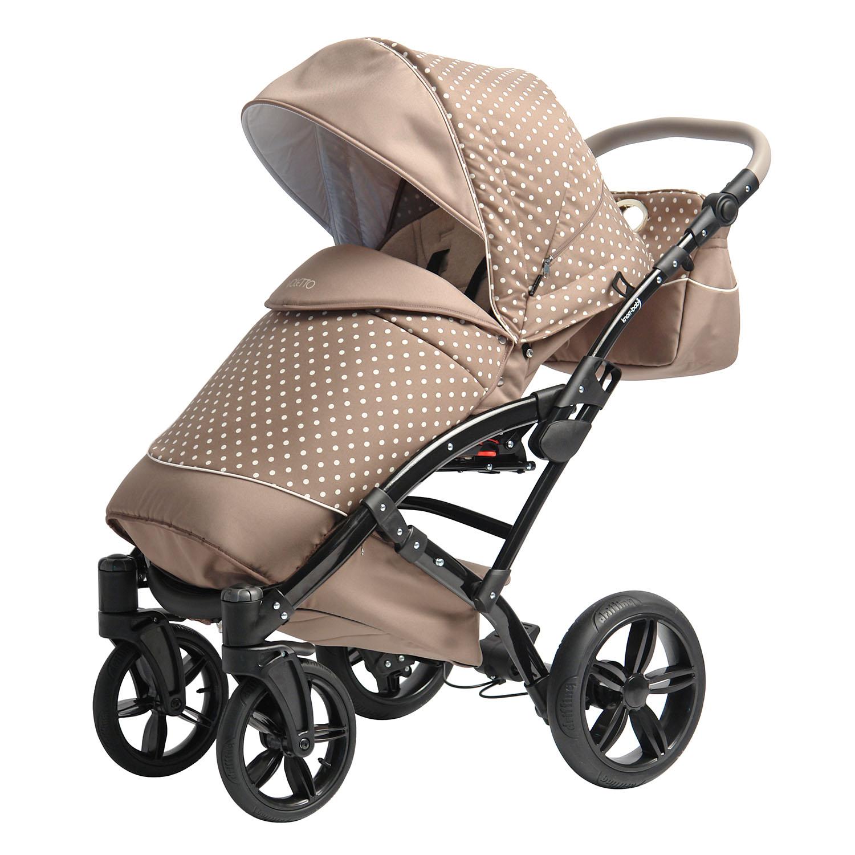 knorr baby gmbh kombikinderwagen voletto tupfen sand creme online kaufen. Black Bedroom Furniture Sets. Home Design Ideas